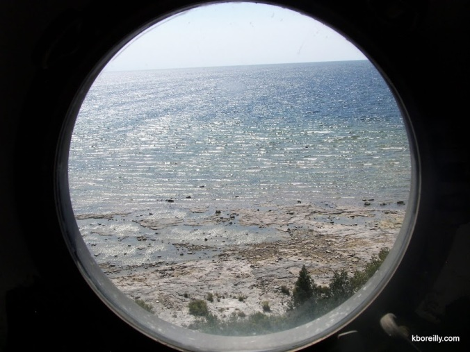 View from porthole of Cana Island Lighthouse; Door County, Wis.